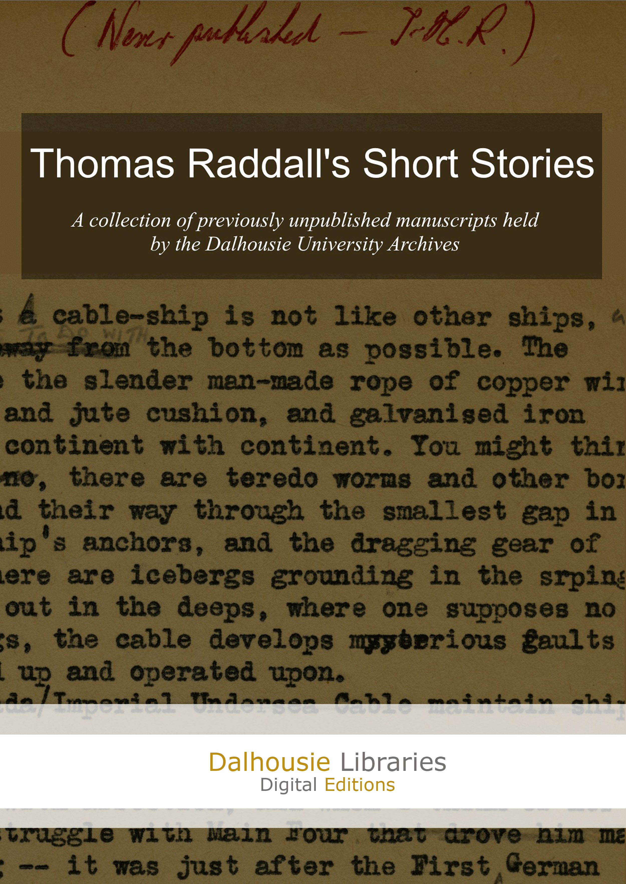 Cover image for Thomas Raddall's Short Stories